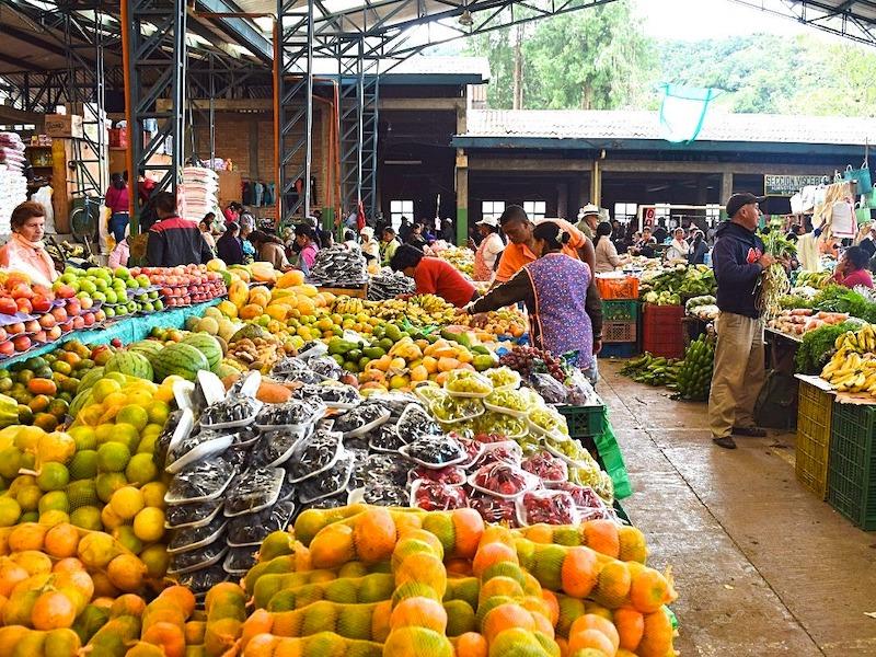 Kolumbien Highlights Markt Silva