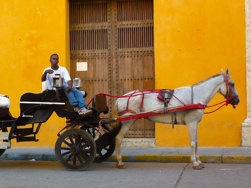 Sicherheit Kolumbien Pferdekutsche